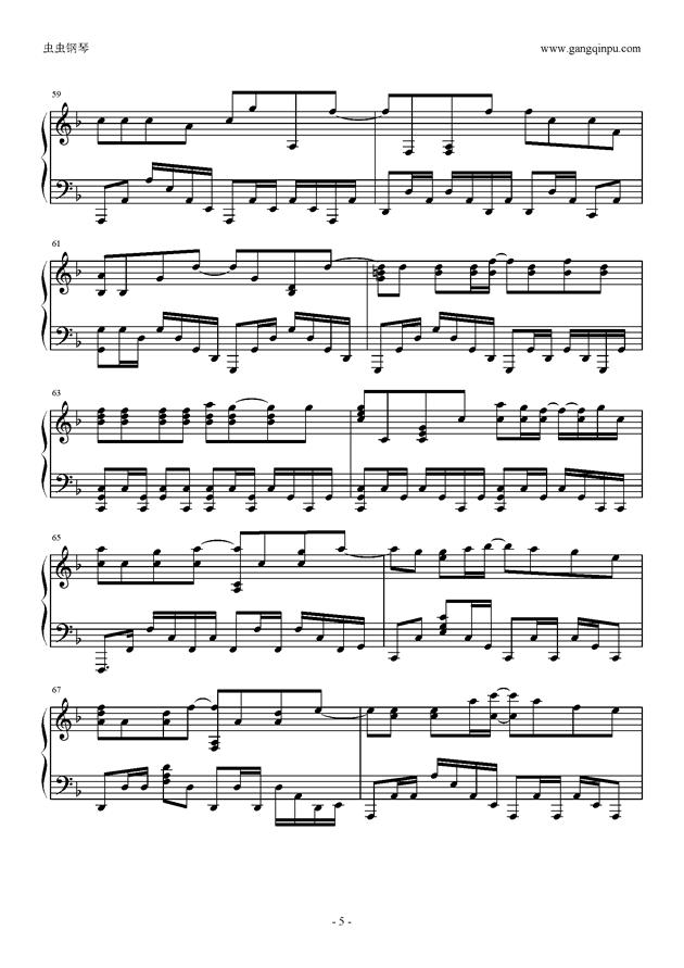我的少女时代钢琴谱 第5页