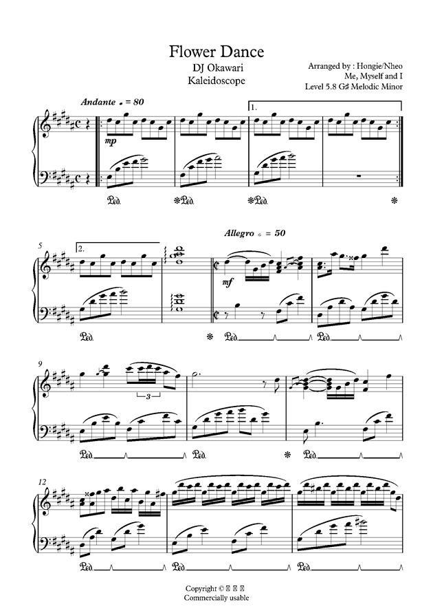 Flower Dance钢琴谱 第1页