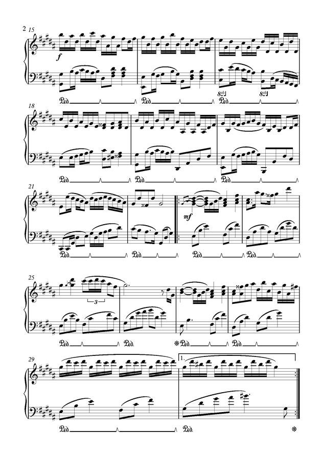 Flower Dance钢琴谱 第2页
