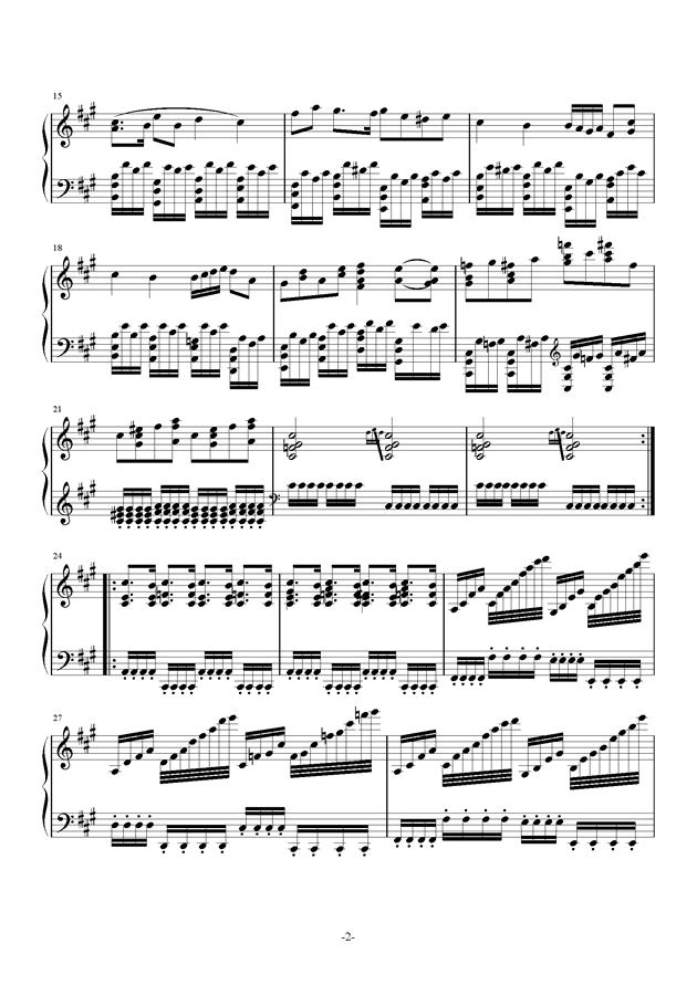 A大调奏鸣曲钢琴谱 第2页
