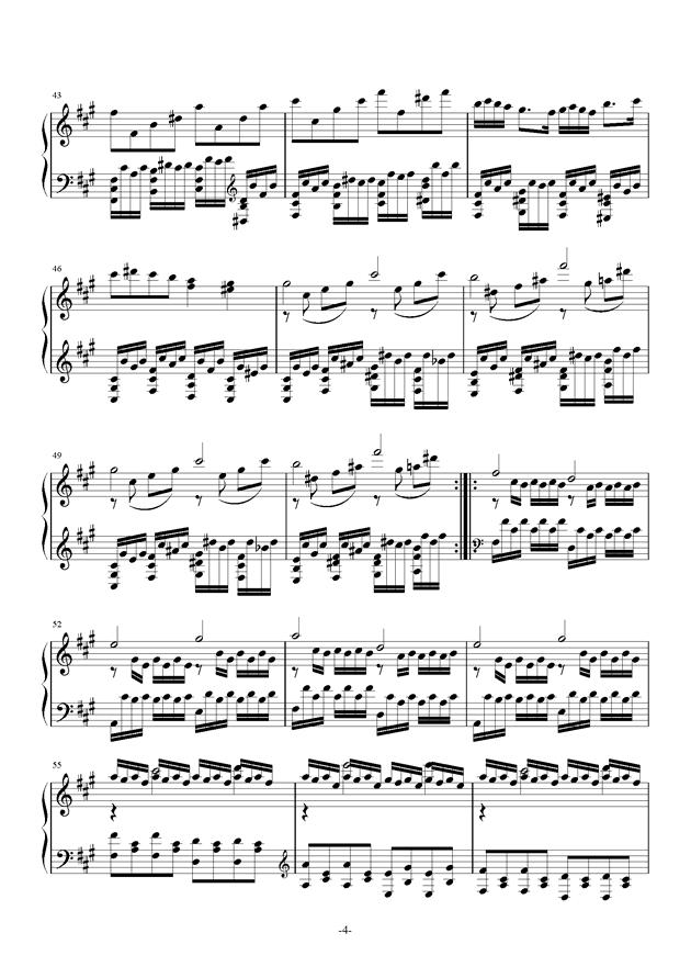 A大调奏鸣曲钢琴谱 第4页