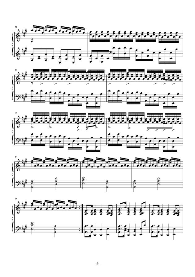 A大调奏鸣曲钢琴谱 第5页