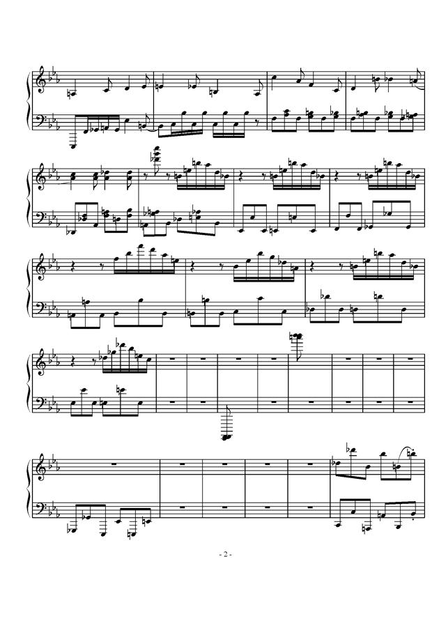 超级马里奥钢琴谱 第2页