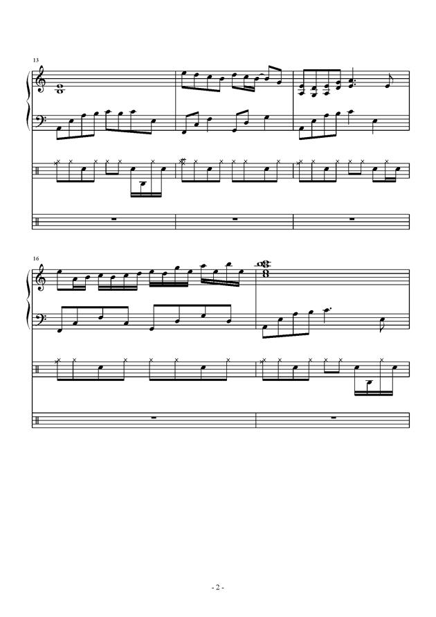 午后的随想钢琴谱 第2页