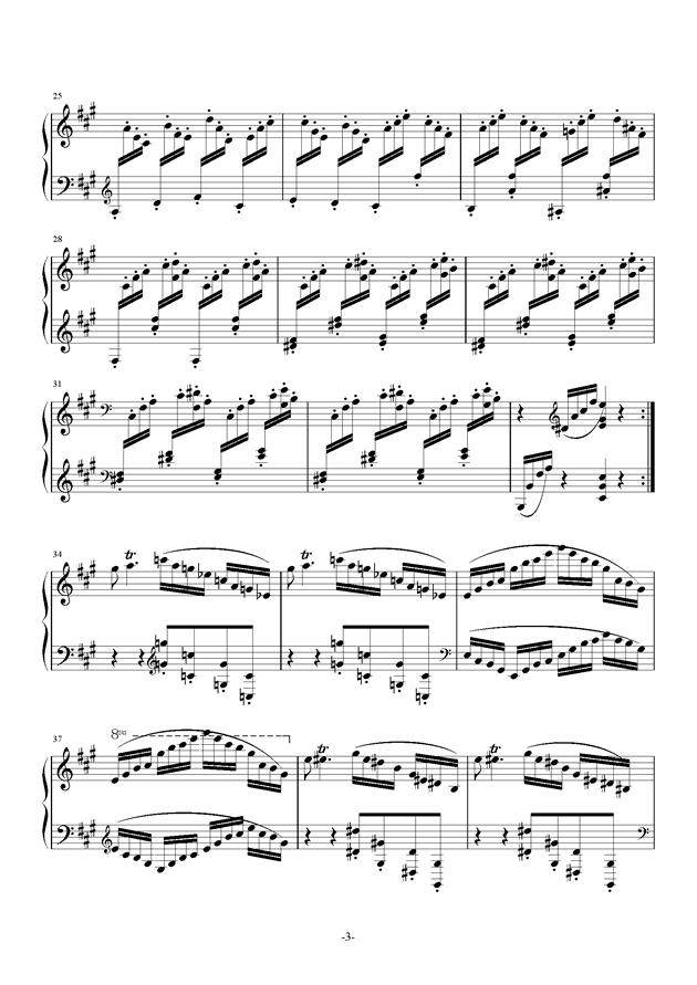小温狂想曲钢琴谱 第3页