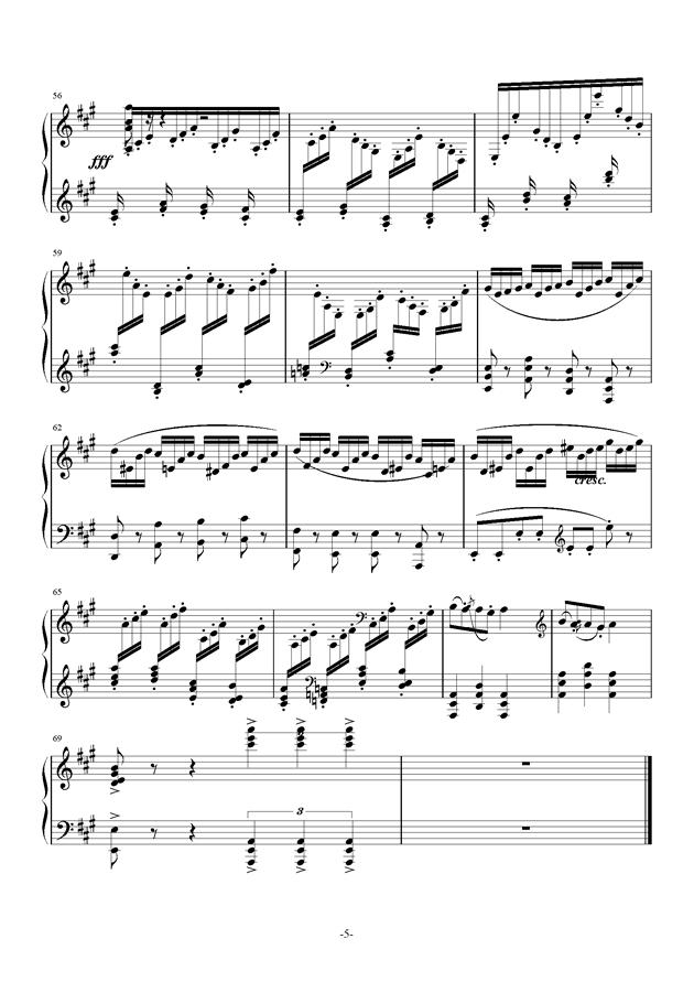 小温狂想曲钢琴谱 第5页