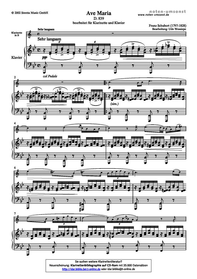 悲伤的圣母玛利亚钢琴谱 第1页
