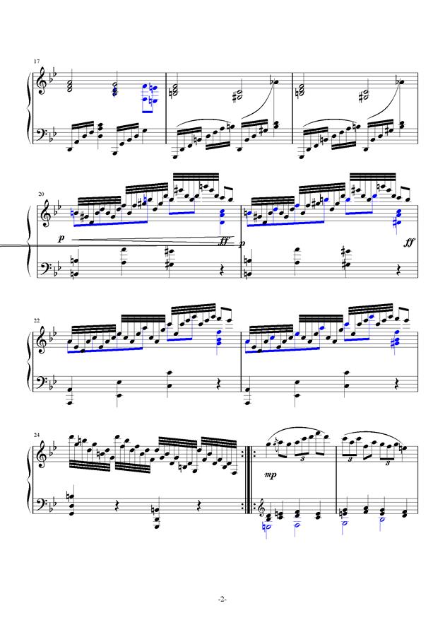 summer holiday 2钢琴谱 第2页