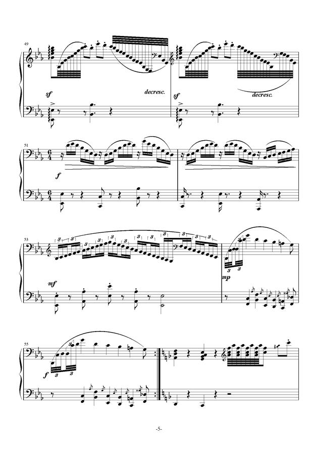 summer holiday 2钢琴谱 第5页