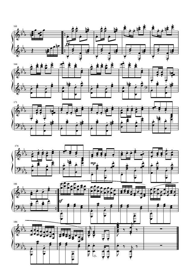 小温狂想曲钢琴谱 第9页