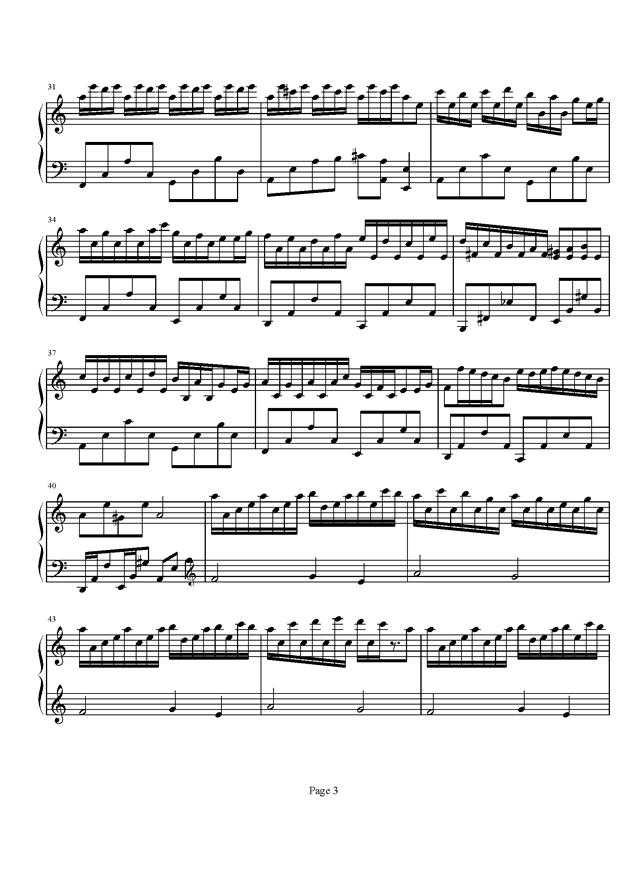 Flower Dance钢琴谱 第3页