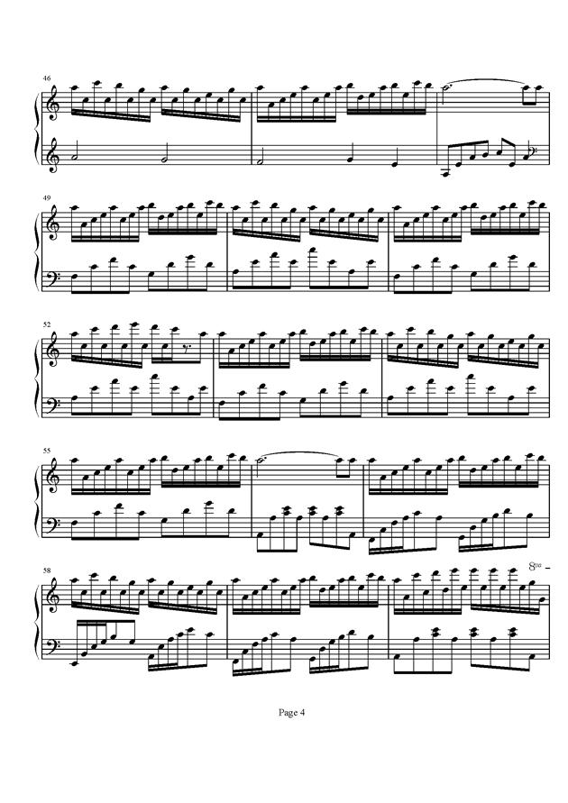 Flower Dance钢琴谱 第4页