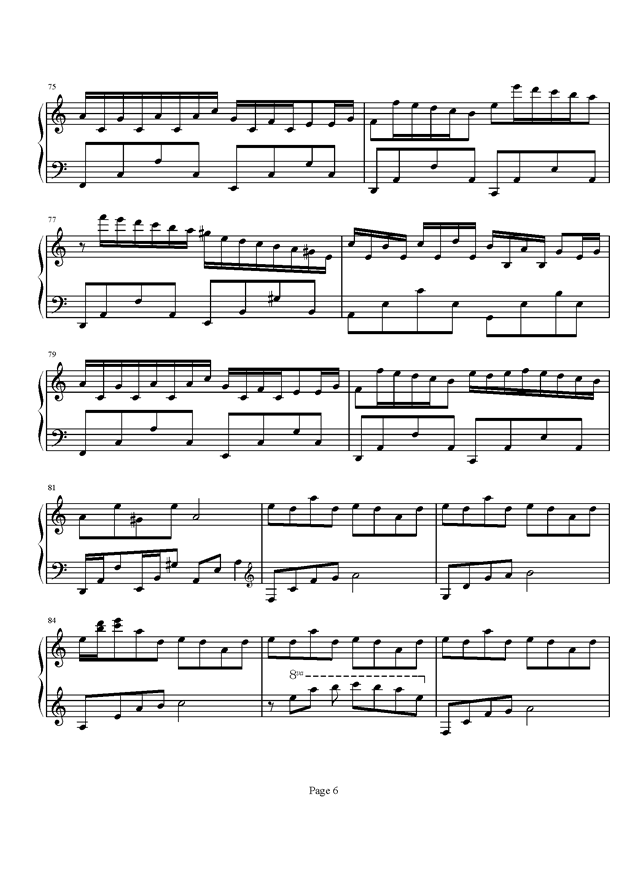 Flower Dance钢琴谱 第6页