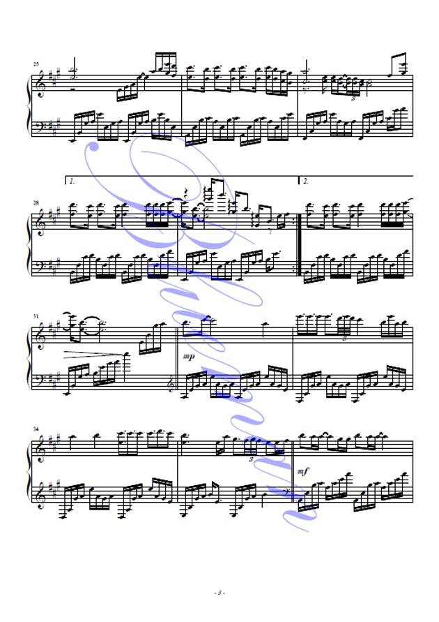 风吹麦浪钢琴谱 第3页