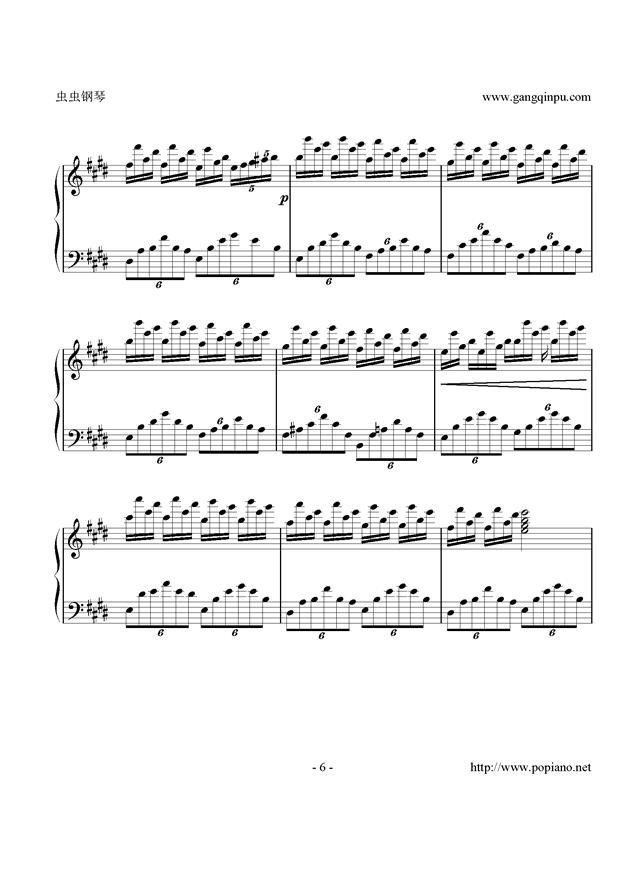 梦想之星乐谱-钢琴谱 小星星 幻想