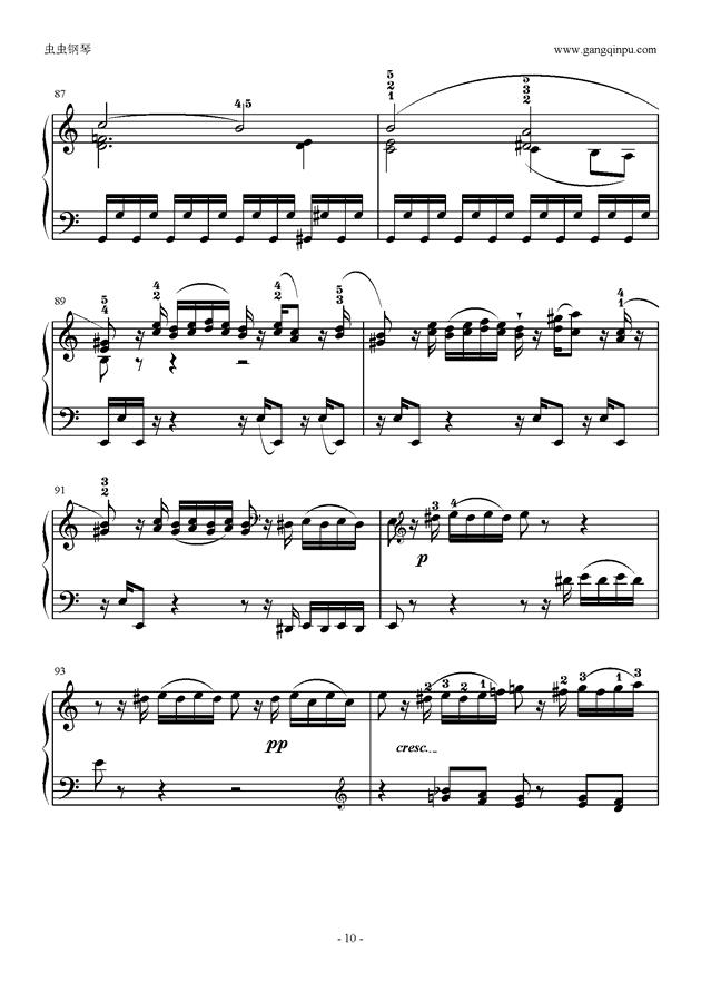C大调奏鸣曲第一乐章钢琴谱 第10页