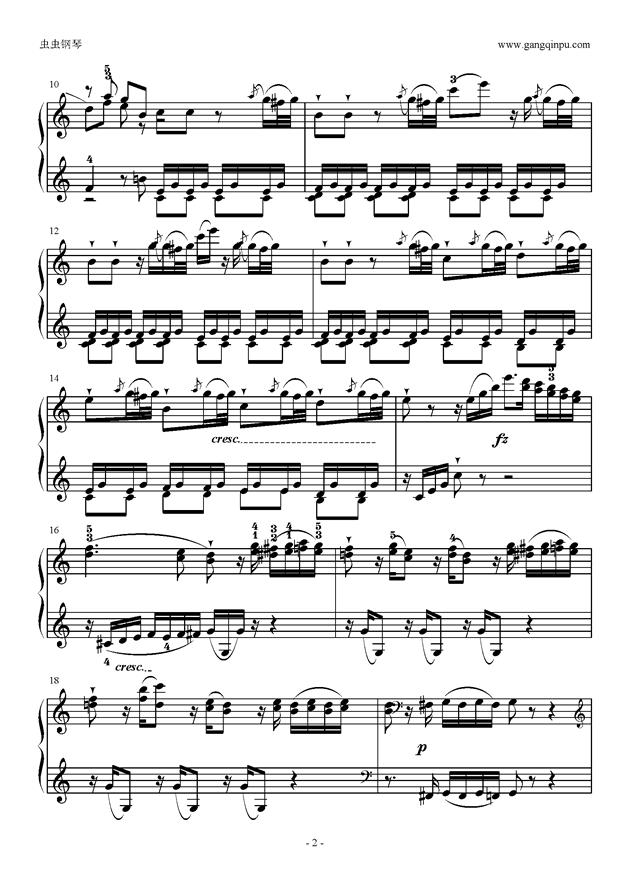 C大调奏鸣曲第一乐章钢琴谱 第2页