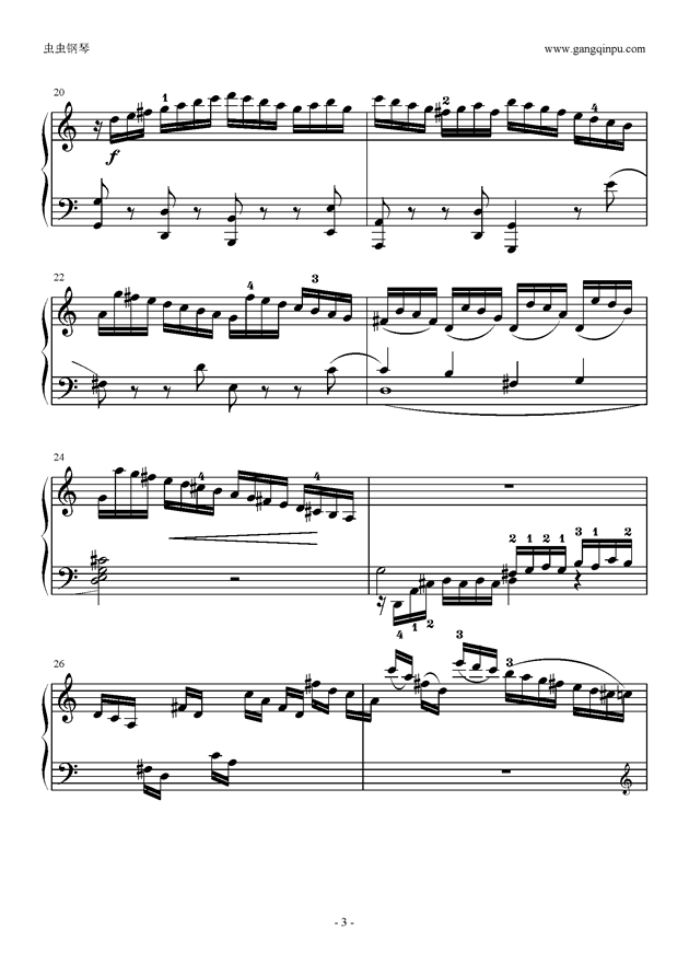 C大调奏鸣曲第一乐章钢琴谱 第3页