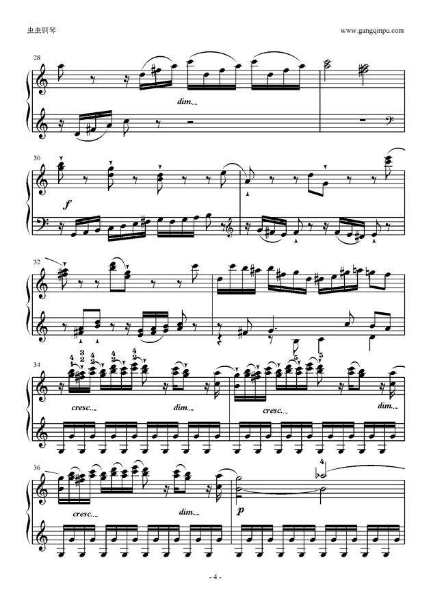 C大调奏鸣曲第一乐章钢琴谱 第4页