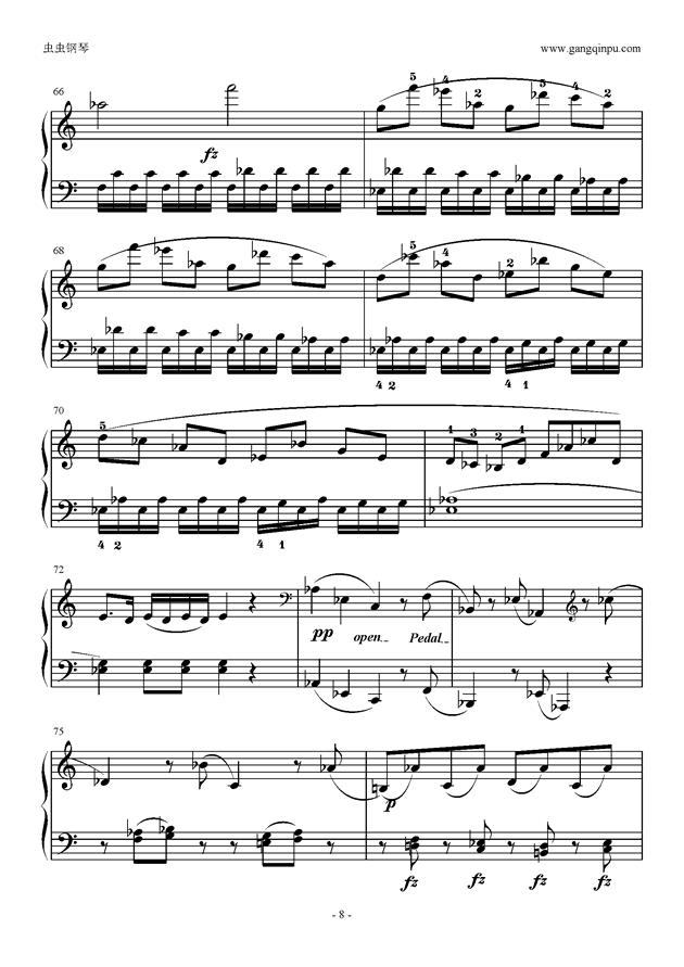 C大调奏鸣曲第一乐章钢琴谱 第8页