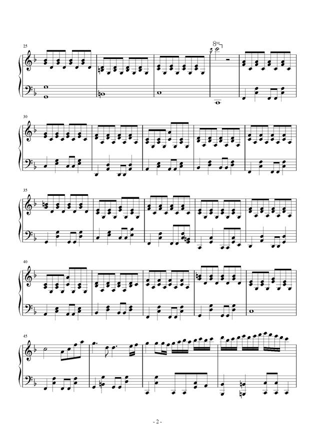 小幸运伴奏,小幸运伴奏钢琴谱,小幸运伴奏钢琴谱网,小幸运伴奏