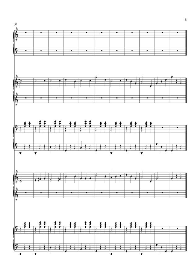 铃儿响叮当钢琴谱 第5页