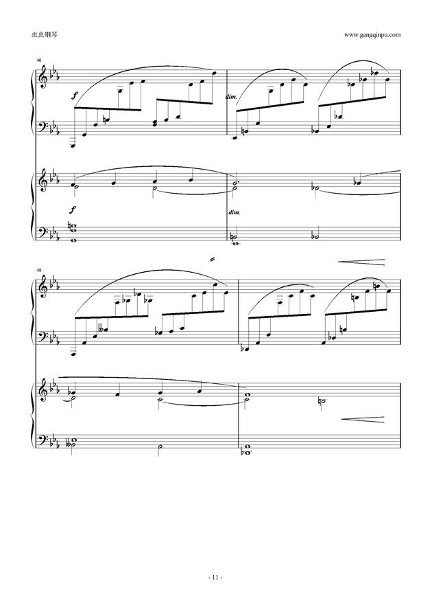 拉赫玛尼诺夫第5钢琴协奏曲钢琴谱 第11页