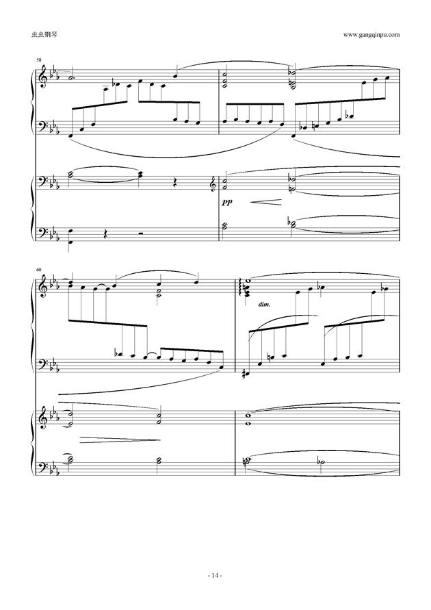 拉赫玛尼诺夫第5钢琴协奏曲钢琴谱 第14页