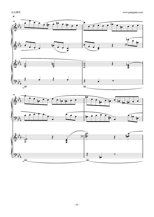 拉赫玛尼诺夫第5钢琴协奏曲钢琴谱 第16页