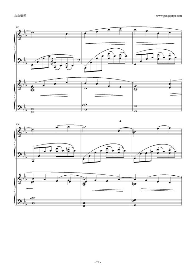 拉赫玛尼诺夫第5钢琴协奏曲钢琴谱 第27页