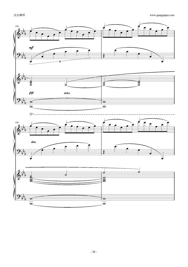 拉赫玛尼诺夫第5钢琴协奏曲钢琴谱 第28页