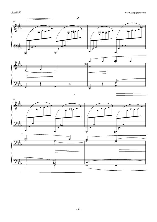 拉赫玛尼诺夫第5钢琴协奏曲钢琴谱 第3页