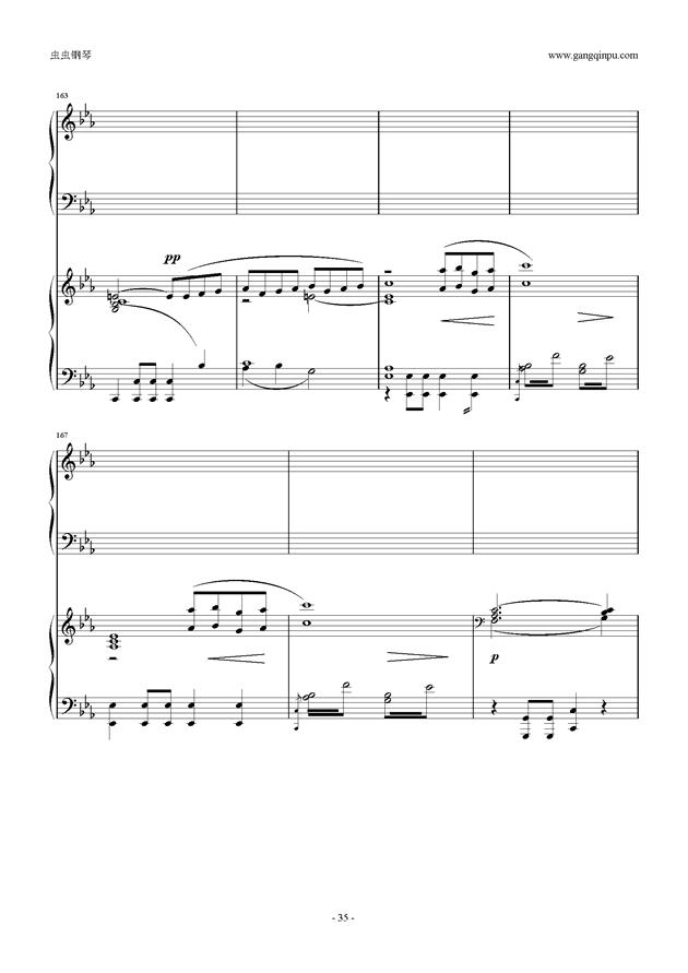 拉赫玛尼诺夫第5钢琴协奏曲钢琴谱 第35页