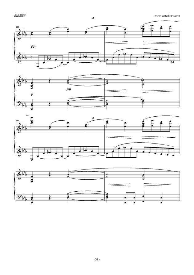拉赫玛尼诺夫第5钢琴协奏曲钢琴谱 第38页