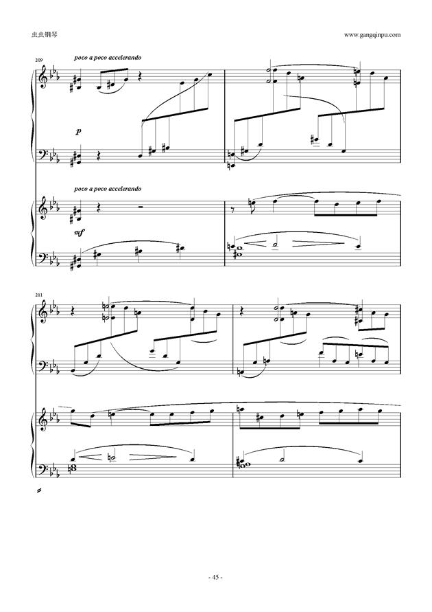 拉赫玛尼诺夫第5钢琴协奏曲钢琴谱 第45页