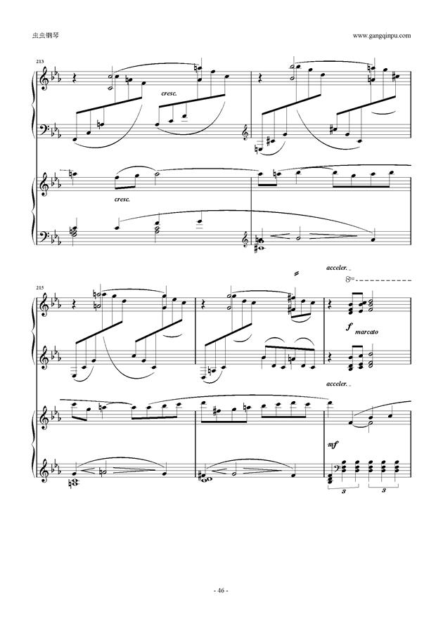 拉赫玛尼诺夫第5钢琴协奏曲钢琴谱 第46页