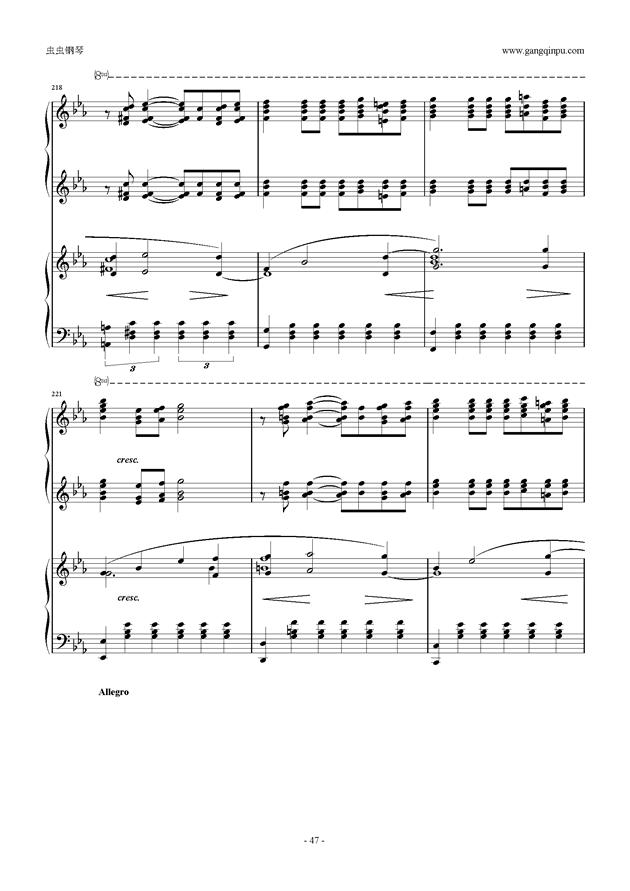 拉赫玛尼诺夫第5钢琴协奏曲钢琴谱 第47页