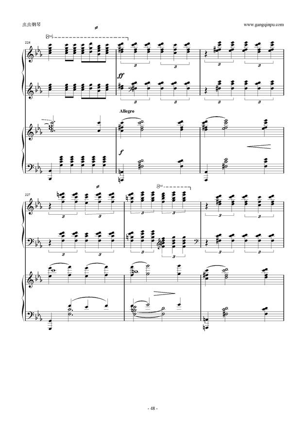 拉赫玛尼诺夫第5钢琴协奏曲钢琴谱 第48页