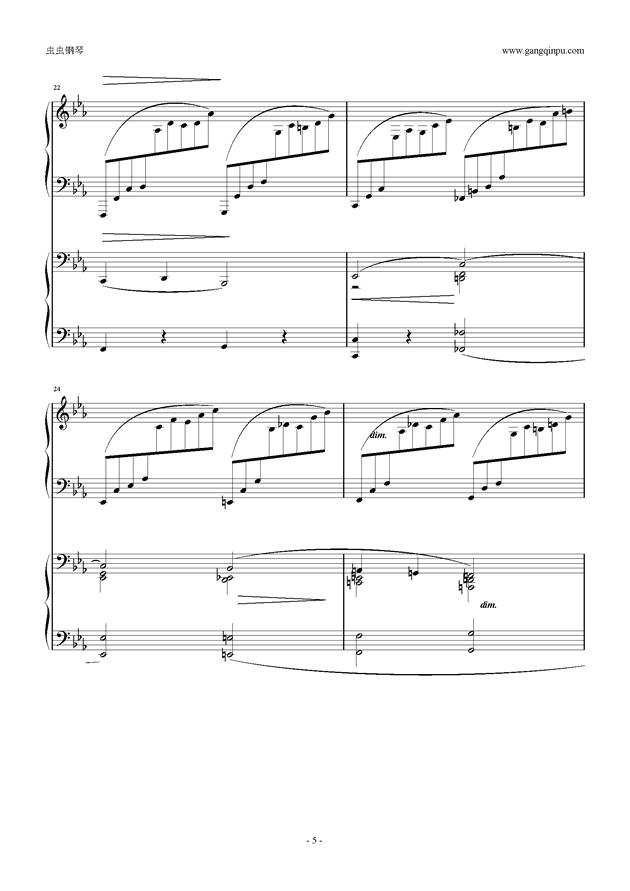 拉赫玛尼诺夫第5钢琴协奏曲钢琴谱 第5页