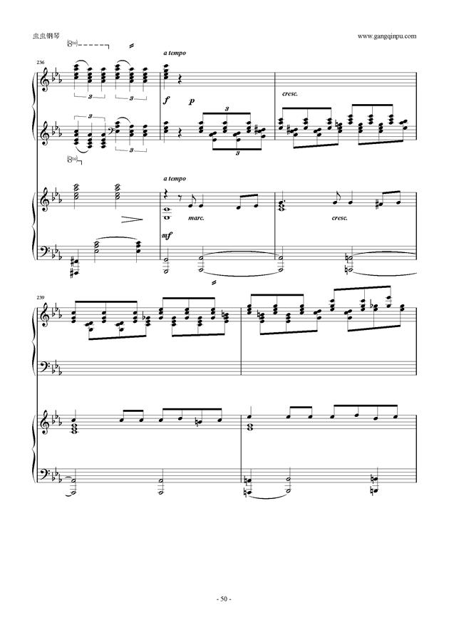拉赫玛尼诺夫第5钢琴协奏曲钢琴谱 第50页