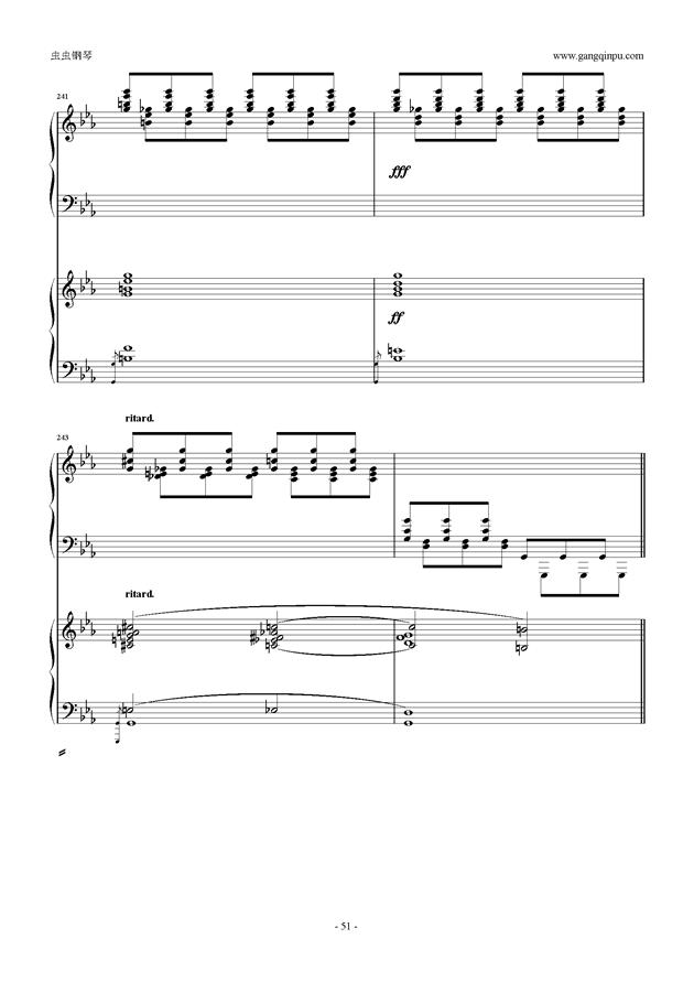 拉赫玛尼诺夫第5钢琴协奏曲钢琴谱 第51页