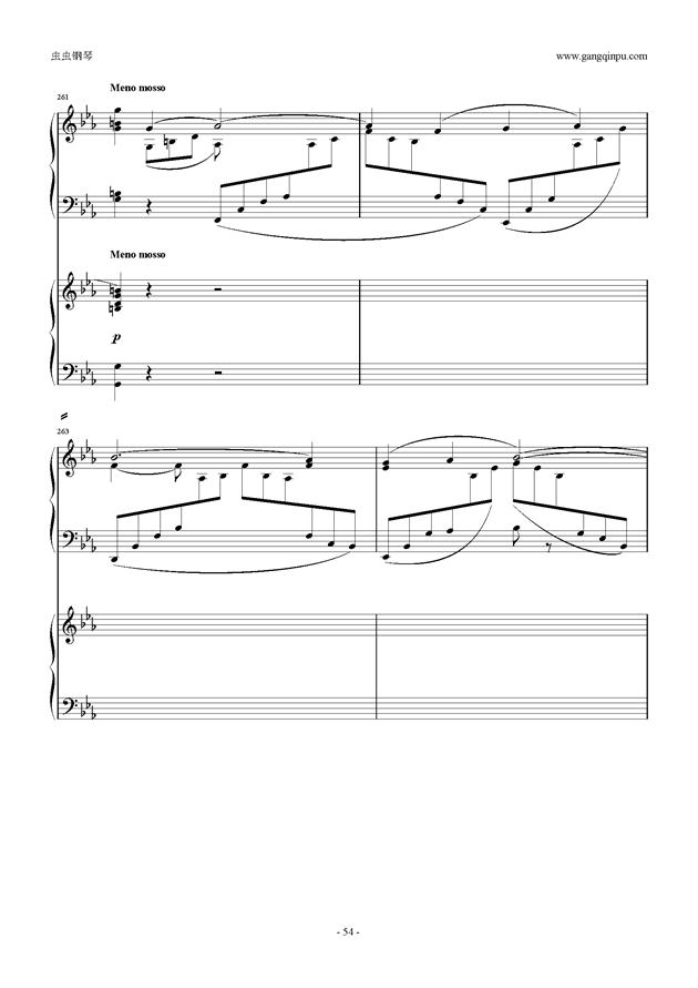 拉赫玛尼诺夫第5钢琴协奏曲钢琴谱 第54页