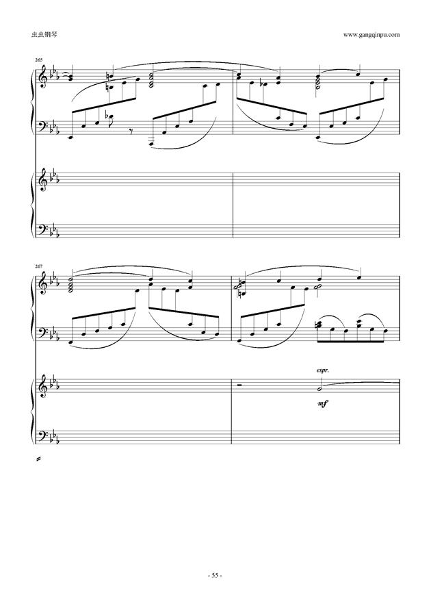 拉赫玛尼诺夫第5钢琴协奏曲钢琴谱 第55页
