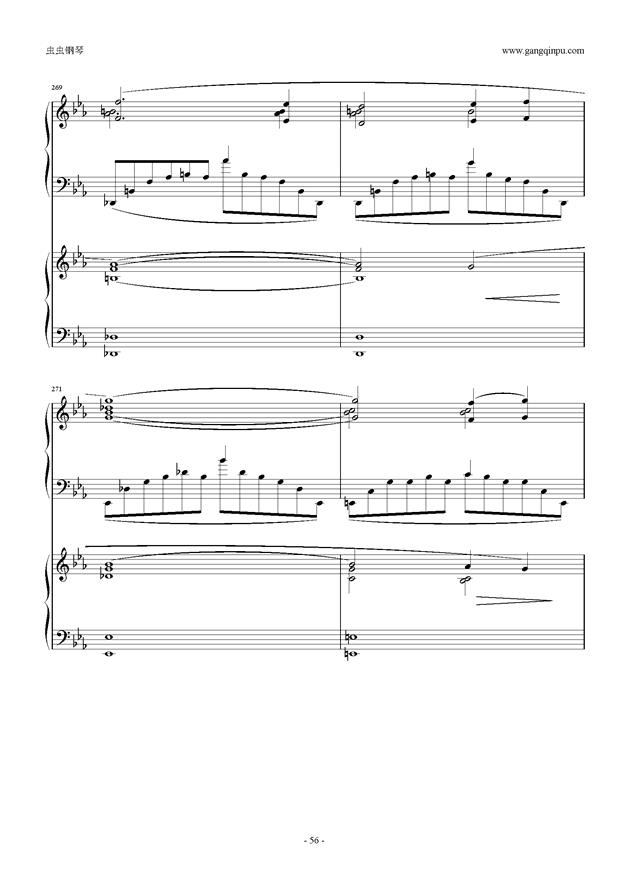 拉赫玛尼诺夫第5钢琴协奏曲钢琴谱 第56页