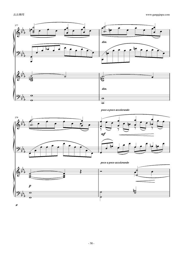 拉赫玛尼诺夫第5钢琴协奏曲钢琴谱 第58页