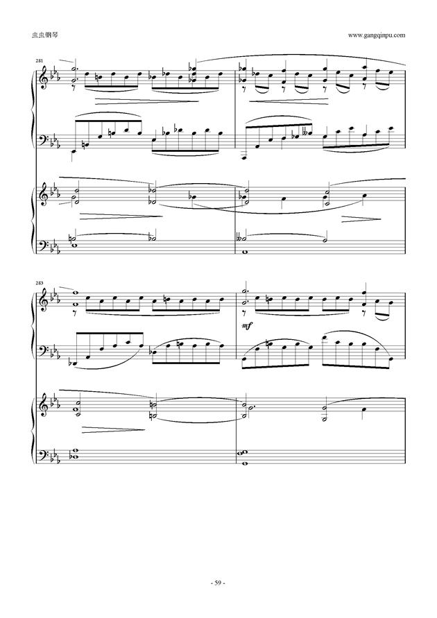 拉赫玛尼诺夫第5钢琴协奏曲钢琴谱 第59页