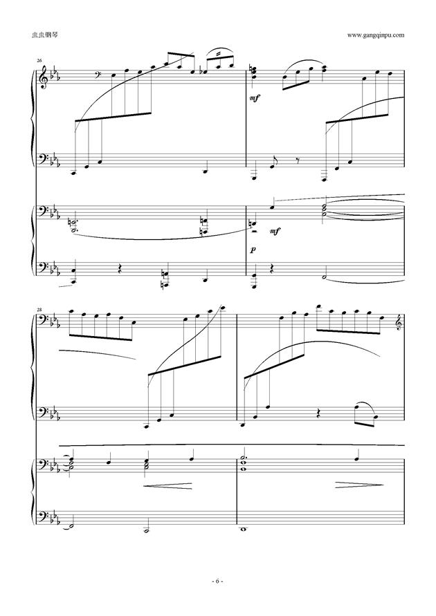 拉赫玛尼诺夫第5钢琴协奏曲钢琴谱 第6页