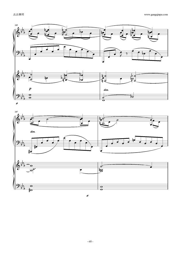 拉赫玛尼诺夫第5钢琴协奏曲钢琴谱 第60页