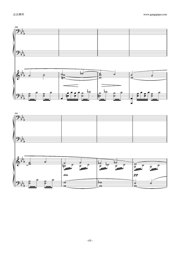 拉赫玛尼诺夫第5钢琴协奏曲钢琴谱 第63页