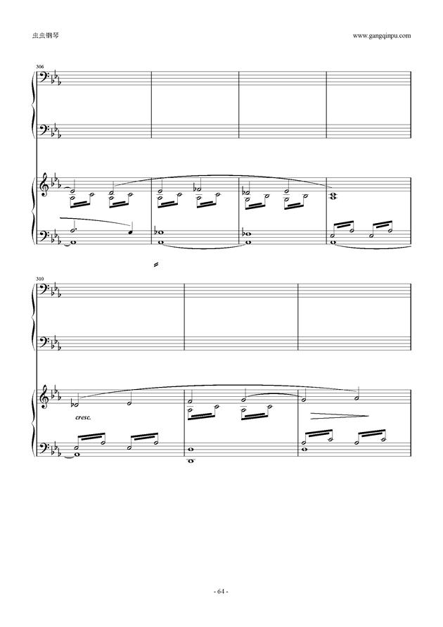 拉赫玛尼诺夫第5钢琴协奏曲钢琴谱 第64页